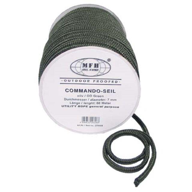 Outdoor-Commando Seil Allzweckseil Reepschnur 7mm 60m länge BW oliv