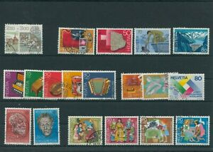 Suisse-Suisse-Vintage-Yearset-1985-Timbres-Used-Complet-Sh-Boutique