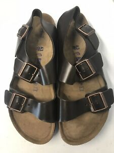 Men-s-Birkenstock-Milano-Amalfi-leather-soft-footbed-ankle-strap-sandals-10R-43