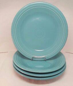 Fiestaware-Turquoise-Luncheon-Plate-Combo-Lot-of-4-Turquoise-9-inch-Blue-Fiesta