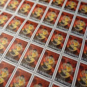 FEUILLE-SHEET-TIMBRE-METIERS-D-039-ART-LA-FERRONNERIE-N-2206-x50-1982-NEUF-MNH
