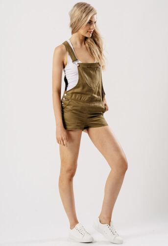 Donna Salopette Corta Cachi con tasca anteriore Patch