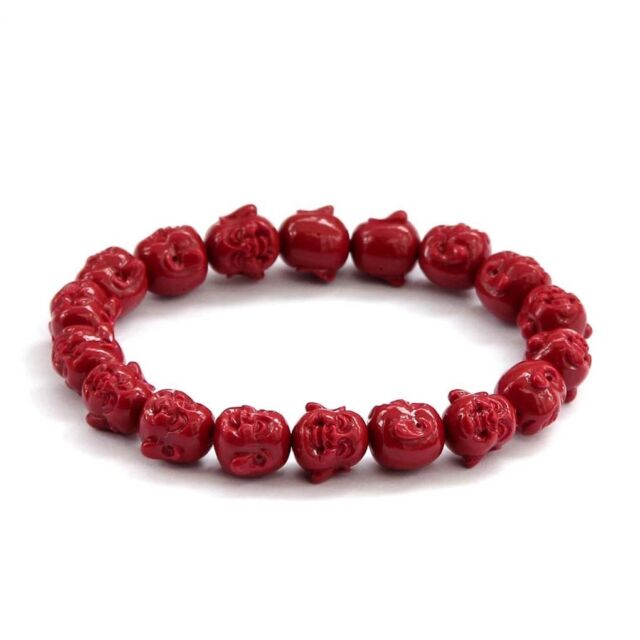COLLECTION Red Coral Happy Buddha Bracelet