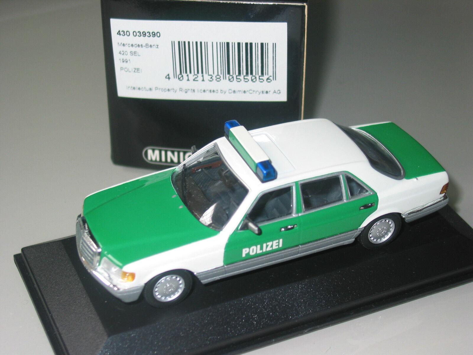 MERCEDES Benz Classe S W126 Police  Minichamps SUPER RARA