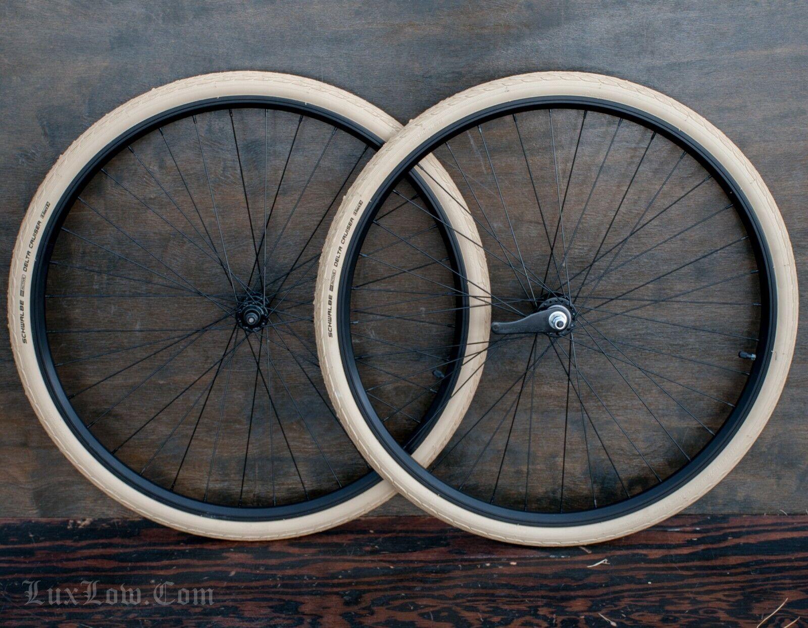 28  Cruiser Bicycle WHEELS Tires  Vintage TOC Prewar Schwinn Wood Rim Hub Bike 29  wholesale prices