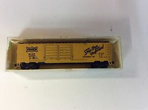 Minitrix-3131N-scale-034-Frisco-034-double-door-box-car-Rd-152705