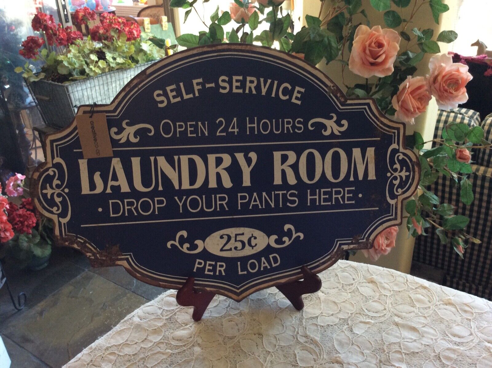 Vintage Laundry Room Lost Socks Wire Basket 4 Clothespin Rack Wall Storage For Sale Online Ebay