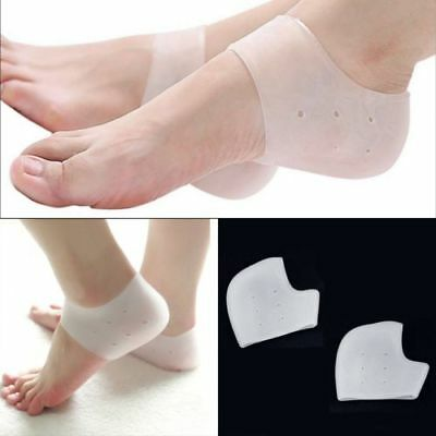 Silicone Gel Medical Grade Heel Foot Protectors Sleeve Pain Relief Cushion Pads