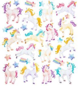 Glitter-Unicorn-Rainbow-Stickers-Papercraft-Journal-DIY-Craft-Scrapbook-Party