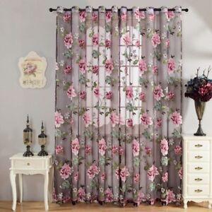 Schlaufenschal Vorhang Gardine Gardinenschal Schlaufen Blumenmuster Farbwahl