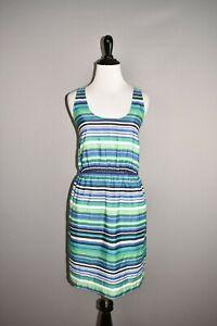 ANN-TAYLOR-LOFT-79-Multi-Color-Striped-Empire-Waist-Dress-Size-2