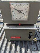 Vintage Lathem Heavy Duty Time Clock Model 2121 With Key