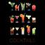 COCKTAILS-ON-BLACK-BACKGROUND-DRINKS-91-x-61-cm-36-x-24-034-ART-POSTER thumbnail 1