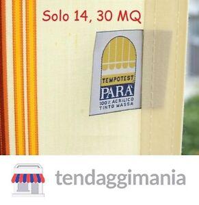 TESSUTO TEMPOTEST PARA' CUCITO SU MISURA TENDE DA SOLE MQ 14,30 CAMBIO TELO
