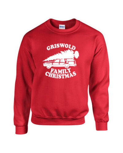 NEW Griswold Family Christmas Tree on Car Roof Funny Xmas Unisex Crew SWEATSHIRT