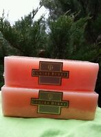 2 Claire Burke 3 Wick Peach Blossom Fragrance Candles Calming Aromatherapy