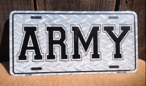 US Army Diamond Gray Wholesale Metal Novelty Wall Decor License Plate