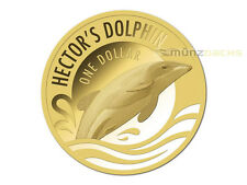 $1 Dollar Hector's Dolphin Gold Proof Coin New Zealand 2016 Sold out