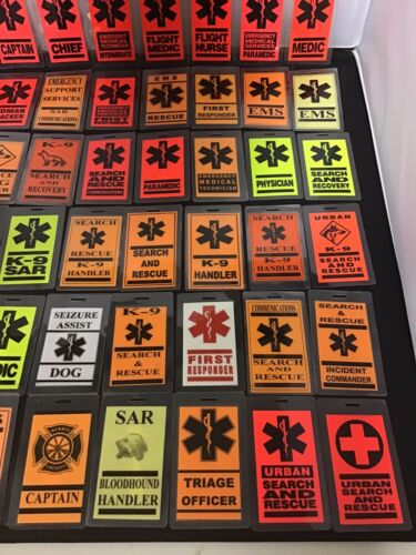 1st Responder// Fire Search /& Rescue Luggage Tag EMS Choose Your Design New