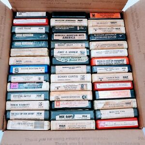 8 Track Tape Vintage  Lot of 42 tapes. Pre-owned. Never tested.