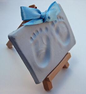 Soft blue air drying clay dough,handprint footprint kit casting imprint baby boy