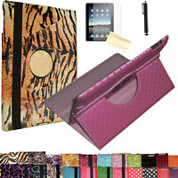 Kindle Fire Hd Hdx 8.9 Rotating Pu Leather Stand Cover Case Magnetic Wake& Sleep