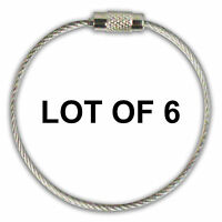 Stainless Steel Screw Cable Loop Luggage Tag 6 Lot Of 6 Olt-01-09-06