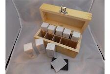 Kit TEST prova ORO ARGENTO ACCIAIO Box legno 2 pietre di PARAGONE 8 acidi REX