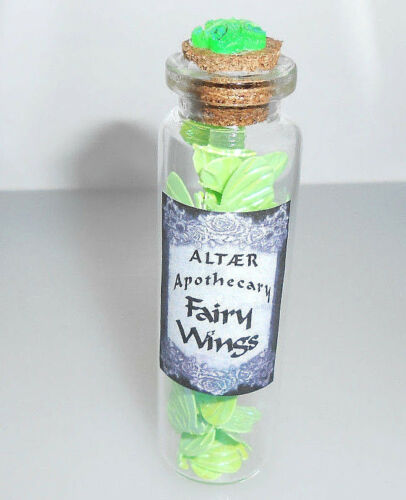 assorted Fairy Wings ALTAER  small POTION Bottles Vials FREE Shipping