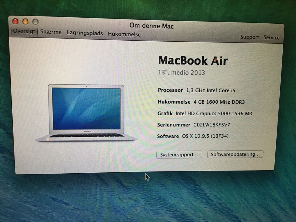 MacBook Air, 13, medio 2013