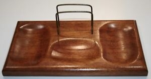 Vintage Wood Butler Jewelry Trinket Organizer