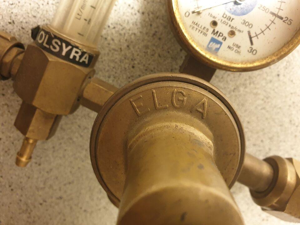 ARGON manumeter / regulator, ELGA Sweden