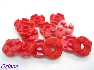 LEGO SPARES PARTS 4032 RED PLATE ROUND 2 X 2 WITH AXLE HOLE FOR 15 PIECES