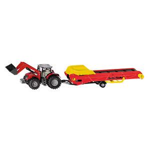 SIKU Spielzeug Modell Massey Ferguson Traktor mit Förderband Landwirtschaf 1996