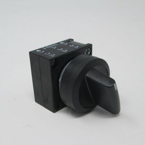 Aus Drehschalter 2 Schaltstellungen 45° Kunstoff schwarz #SK-80-1 Siemens An