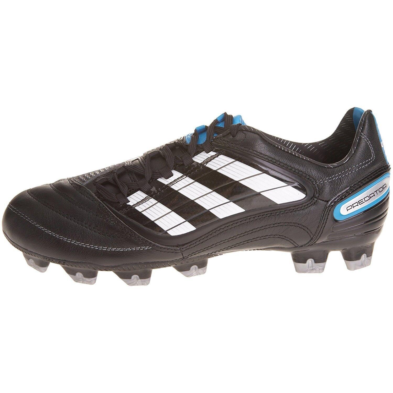 Gli uomini  adidas predator absolion_x fg scarpini da calcio calcio da - nero / bianco / blu - pennino. d4cd5e