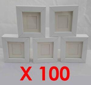 100 X White Tysslinge Replacement Small Craft Frames 8x9 Ikea Ebay