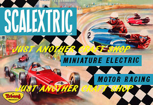 Scalextric-1963-Poster-A3-Size-Advert-Leaflet-Sign-very-high-quality