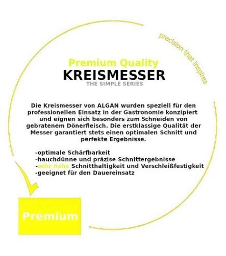 ALGAN Döner Kebab Kreismesser Dönermesser KS-T120 Premium 5er Pack