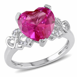 Sterling-Silver-Created-Pink-Sapphire-and-Diamond-Accent-Heart-Ring