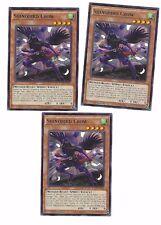 X3 YUGIOH SHINOBIRD CROW RATE-EN022 COM 1ST IN HAND
