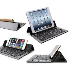 Alu Faltbare Bluetooth Tastatur APPLE  iPad Mini Kabellos Tablet IOS - F18 Grau