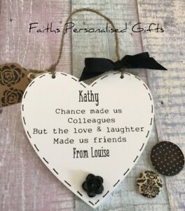 Candide Personalised Pretty Friend/colleague Heart Plaques * Any Occasion * Keepsake *-ue Heart Plaque*any Occasion*keepsake* Fr-fr Afficher Le Titre D'origine Utilisation Durable