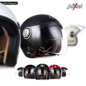 Soxon-sp-888-Jet-Casque-Moto-Casque-de-roller-vespa-retro-soleil-visiere-xs-s-m-l-xl