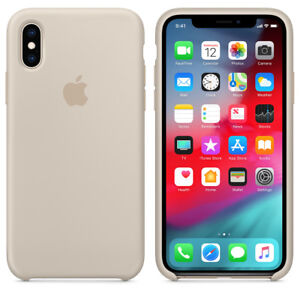 the best attitude 6651e dfc08 Details about STONE REAL ORIGINAL Apple Silicone Case iPhone X 5.8