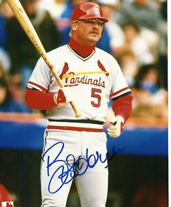 Bob Horner St Louis Cardinals Signed 8x10 Photo W Coa Ebay