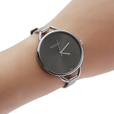New Fashion Classic Women's Lady Quartz Stainless Steel Analog Wrist Watch Black