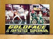 GOLDFACE IL FANTASTICO SUPERMAN fotobusta poster Robert Anthony Super Eroe 1967