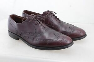 ALLEN-EDMONDS-Lloyd-Burgundy-Leather-Wingtip-Dress-Oxfords-Shoes-Men-039-s-Sz-10-5-B