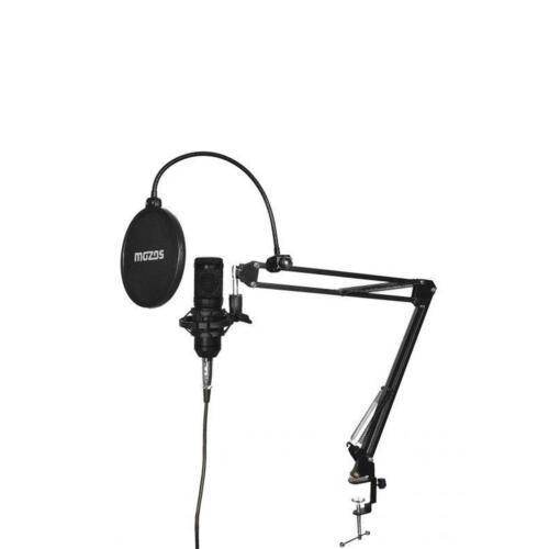 Mikrofonkit Mikrofon Stativ Set Studio Kondensatormikrofon Mozos Studio Pro